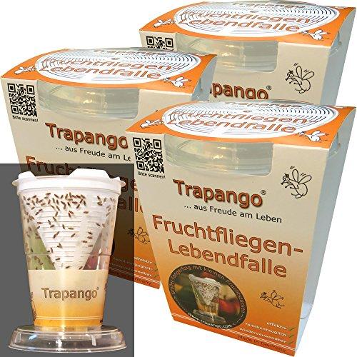 3x Fruchtfliegen-Lebendfalle Trapango, (3er-Pack